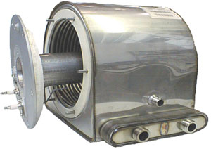 Теплообменник конденсационного котла Baxi в сборе с горелкой